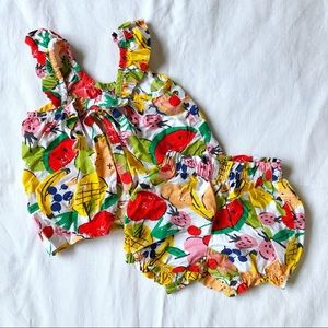 Hanna Anderson Baby fruity bloomer and top set